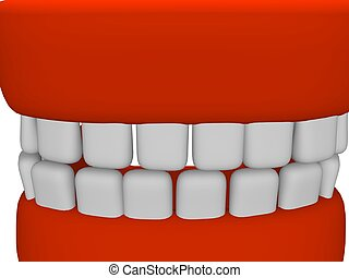 dentures - illustration in 3d of a dentures