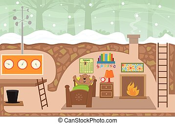 Groundhog House - Detailed illustration of a cute...