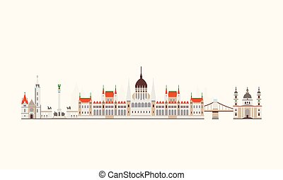 Budapest abstract skyline