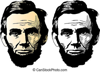 Abraham Lincoln - Vector portrait of Abraham Lincoln, 16th...