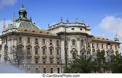 Palace of Justice Justizpalast in Munich, Bavaria, Germany...