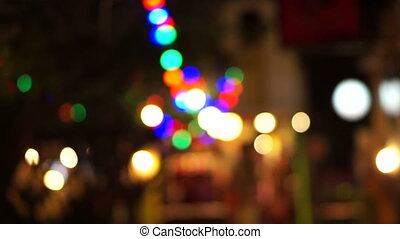 holiday tree lights carnival - Out of focus holiday tree...