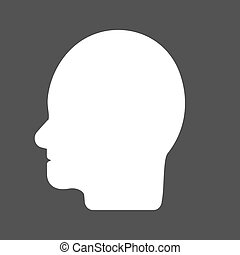 Human Face - Man, face, hair icon vector image Can also be...