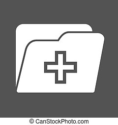 Medical Records - Medical, health, record icon vector image...