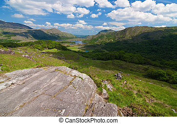 vibrant scenic landscape from the west of ireland
