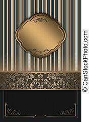 Decorative background with elegant borders - Vintage...