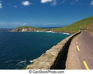 beautiful scenic vibrant landscape and seacape west ireland...