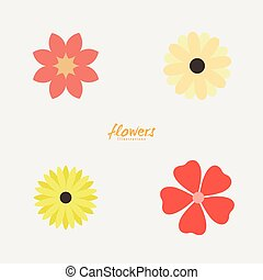 Abstract cute flowers