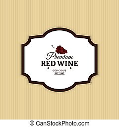 Delicious Wine Label - Abstract Wine label on a yellow...