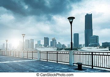 China Shanghai Bund - Tempest in Shanghai Bund, Huangpu...