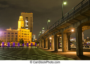 Historical building and overpass - Historical building of...
