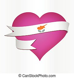 Cyprus Valentines Card - Flag card vector of Cyprus...
