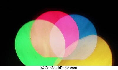 Big colorful rainbow bokeh lights