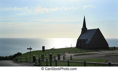 Church on hill by the sea - Church Chapelle Notre-Dame de la...