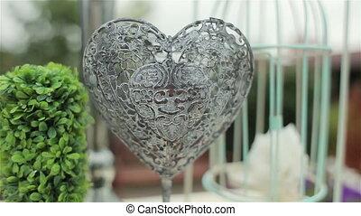 Wedding decoration. Iron heart - Wedding decoration of...