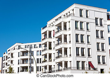 White modern condos in Berlin - White modern condominiums...