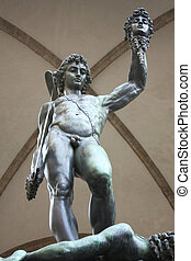 Statue of Perseus with Medusa head - Florence, Italy...