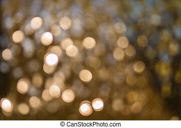 Oscuridad, dorado, encendido,  bokeh,  Defocused