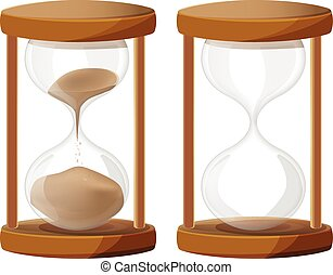 Sand Glass Time Clock vector