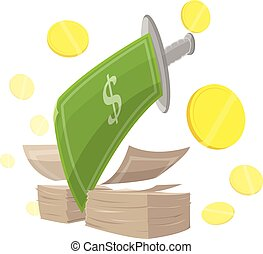 Sword Money Cut Finance vector