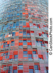 Torre Agbar in Barcelona - Skyscrapers in conical shape,...