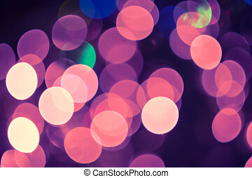 Pink holiday bokeh background