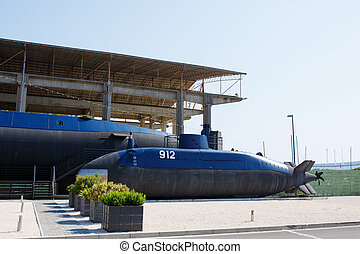 Old submarine near the Tivat, Porto Montenegro