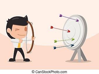 Man Shoot Arrow Target Archer