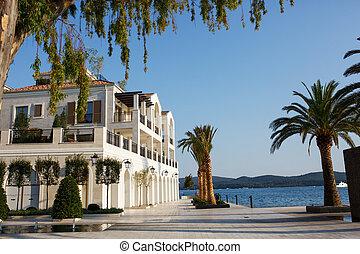Porto Montenegro. Tivat city, Montenegro. - Porto...