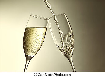 golden aniversary - champagne splash, new year`s eve...