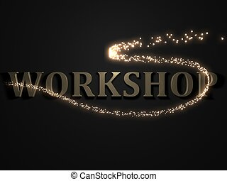 WORKSHOP from metal letters