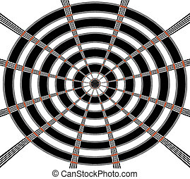 Abstract Bulls eye background