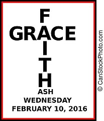 2016 ash wednesday icon - faith and grace meet at the cross...