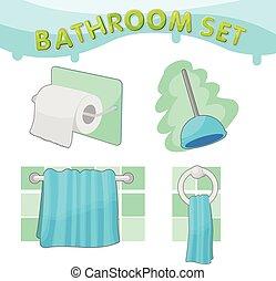 Bathroom Symbol icon set C Vector