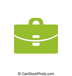 Suitcase - Vector icon green icon
