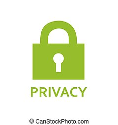 privacy lock icon, green icon. - privacy lock icon, green...