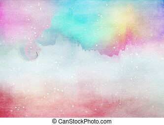 Abstract colorful watercolor for background Digital art...