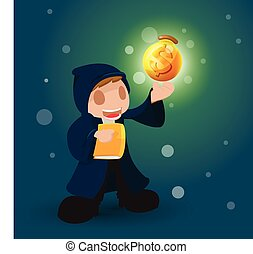Wizard Magic Money Rish Dollar