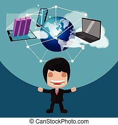 Worker Man Technology Business