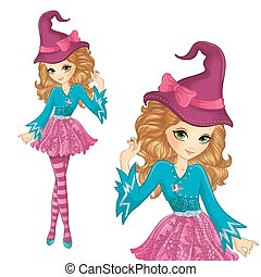 Witch Wearing Pink Hat With Bow