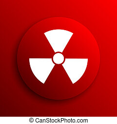 Radiation icon Internet button on white background
