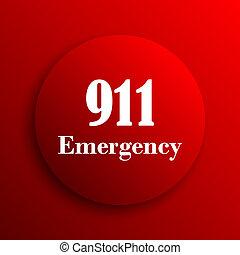 911 Emergency icon Internet button on white background