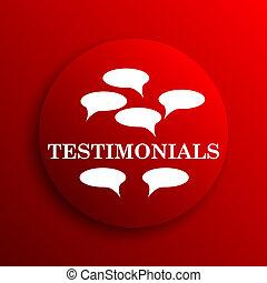 Testimonials icon Internet button on white background