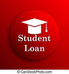 Student loan icon Internet button on white background
