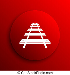 Rail road icon. Internet button on white background.