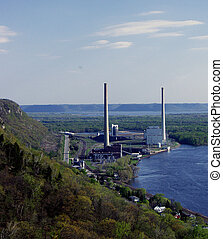 Powerplant at Alma, WI - Mississippi River Scenic...