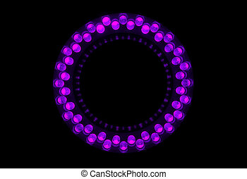 LEDs - 48 violet LEDs are arranged in the ring.