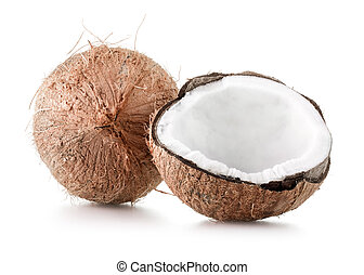 coconut - Coconut isolated on white background.