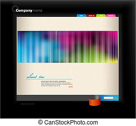 Website template Vector art