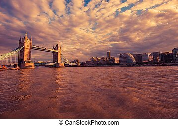 London River Thames at Sunset London, United Kingdom
